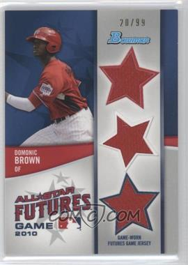 2011 Bowman Future's Game Triple Relics #FGTR-DB - Domonic Brown /99