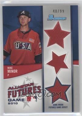 2011 Bowman Future's Game Triple Relics #FGTR-MM - Mike Minor /99