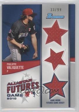 2011 Bowman Future's Game Triple Relics #FGTR-PV - Philippe Valiquette /99