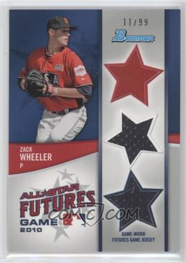 2011 Bowman Future's Game Triple Relics #FGTR-ZW - Zack Wheeler /99