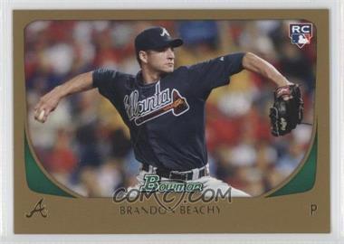 2011 Bowman Gold #204 - Brandon Beachy