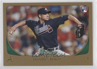 2011 Bowman Gold #204 - Brandon Beachy