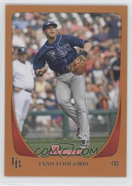 2011 Bowman Orange #109 - Evan Longoria /250