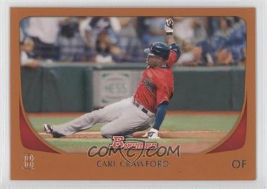 2011 Bowman Orange #129 - Carl Crawford /250