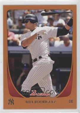 2011 Bowman Orange #170 - Alex Rodriguez /250