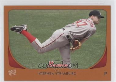 2011 Bowman Orange #179 - Stephen Strasburg /250