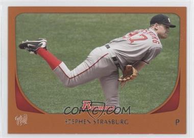 2011 Bowman Orange #179 - Stephen Strasburg /250