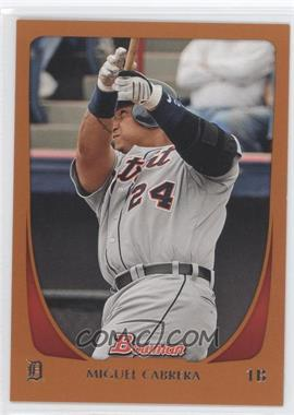 2011 Bowman Orange #47 - Miguel Cabrera /250