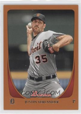 2011 Bowman Orange #48 - Justin Verlander /250