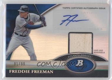 2011 Bowman Platinum - Autograph Relic Refractor - Blue #BAR-FF - Freddie Freeman /99