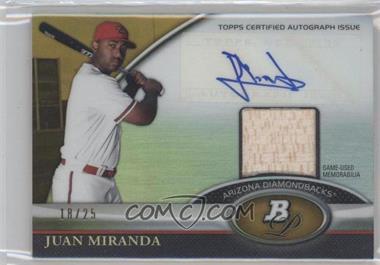2011 Bowman Platinum - Autograph Relic Refractor - Gold #BAR-JMI - Juan Miranda /25