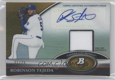 2011 Bowman Platinum - Autograph Relic Refractor - Gold #BAR-RT - Robinson Tejeda /25