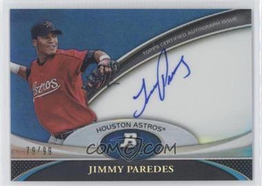 2011 Bowman Platinum - Prospect Autographs - Blue Refractor #BPA-JP - Jimmy Paredes /99