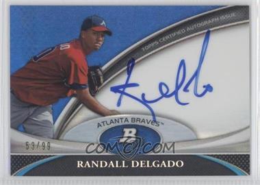 2011 Bowman Platinum - Prospect Autographs - Blue Refractor #BPA-RDE - Randall Delgado /99