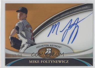 2011 Bowman Platinum - Prospect Autographs - Gold Refractor #BPA-MF - Mike Foltynewicz /50
