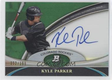 2011 Bowman Platinum - Prospect Autographs - Green Refractor #BPA-KP - Kyle Parker /399