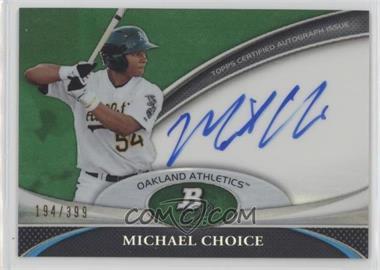 2011 Bowman Platinum - Prospect Autographs - Green Refractor #BPA-MC - Michael Choice /399