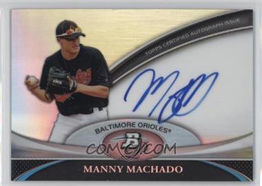 2011 Bowman Platinum - Prospect Autographs #BPA-MM - Manny Machado