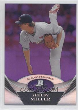 2011 Bowman Platinum - Prospects - Retail Purple Refractor #BPP72 - Shelby Miller