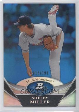 2011 Bowman Platinum - Prospects Refractor - Blue #BPP72 - Shelby Miller /199
