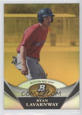 2011 Bowman Platinum - Prospects Refractor - Gold #BPP15 - Ryan Lavarnway /50