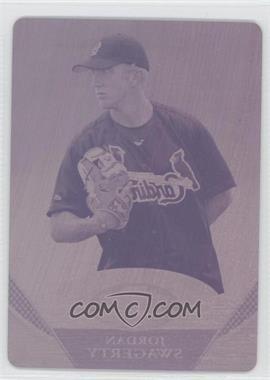 2011 Bowman Platinum - Prospects Refractor - Printing Plate Magenta #BPP-74 - Jordan Swagerty /1