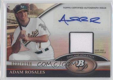 2011 Bowman Platinum Autographed Relic [Autographed] #BAR-AR - Adam Rosales /1166
