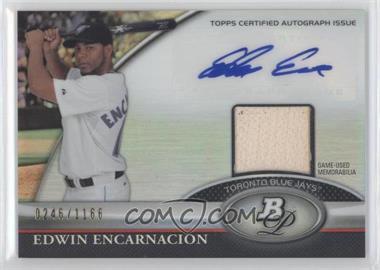 2011 Bowman Platinum Autographed Relic [Autographed] #BAR-EE - Edwin Encarnacion /1166