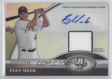 2011 Bowman Platinum Autographed Relic [Autographed] #BAR-EM - Evan Meek /1166