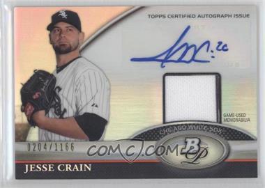 2011 Bowman Platinum Autographed Relic [Autographed] #BAR-JC - Jesse Crain /1166
