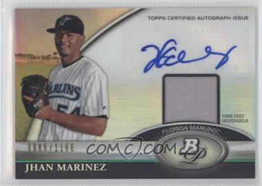 2011 Bowman Platinum Autographed Relic [Autographed] #BAR-JMA - Jhan Marinez /1166