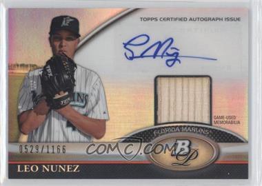 2011 Bowman Platinum Autographed Relic [Autographed] #BAR-LN - Leo Nunez /1166