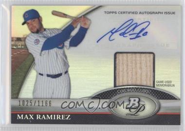 2011 Bowman Platinum Autographed Relic [Autographed] #BAR-MR - Max Ramirez /1166