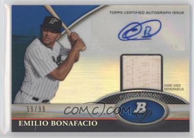 2011 Bowman Platinum Autographed Relic Blue Refractor [Autographed] #BAR-EB - Emilio Bonifacio /99