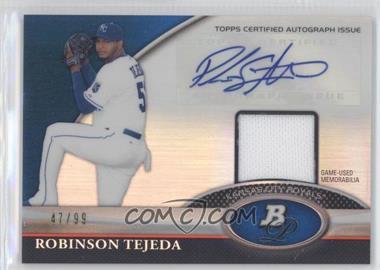 2011 Bowman Platinum Autographed Relic Blue Refractor [Autographed] #BAR-RT - Robinson Tejeda /99