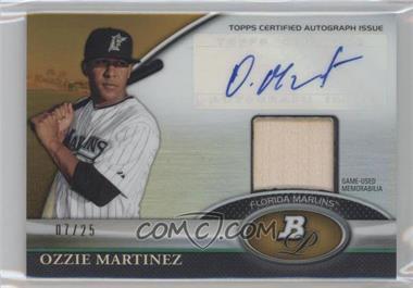 2011 Bowman Platinum Autographed Relic Gold Refractor [Autographed] #BAR-OM - Ozzie Martinez /25
