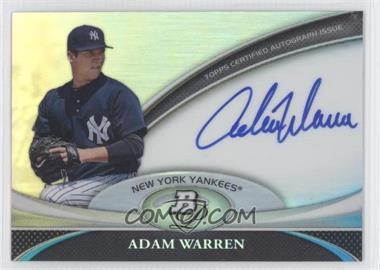 2011 Bowman Platinum Prospect Autographs [Autographed] #BPA-AWA - Adam Warren