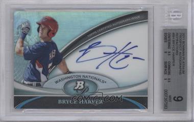2011 Bowman Platinum Prospect Autographs [Autographed] #BPA-BH - Bryce Harper [BGS9]