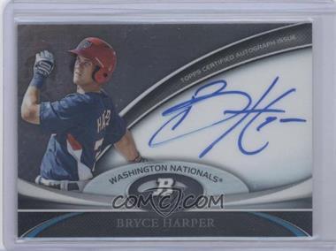 2011 Bowman Platinum Prospect Autographs [Autographed] #BPA-BH - Bryce Harper