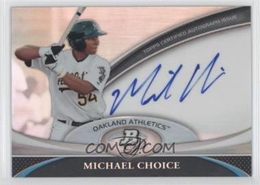 2011 Bowman Platinum Prospect Autographs [Autographed] #BPA-MC - Michael Choice