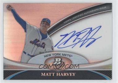 2011 Bowman Platinum Prospect Autographs [Autographed] #BPA-MH - Matt Harvey