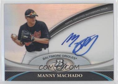 2011 Bowman Platinum Prospect Autographs [Autographed] #BPA-MM - Manny Machado