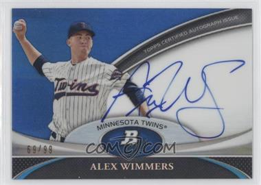 2011 Bowman Platinum Prospect Autographs Blue Refractor [Autographed] #BPA-AW - Alex Wimmers /99