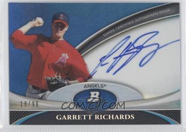 2011 Bowman Platinum Prospect Autographs Blue Refractor [Autographed] #BPA-GR - Garrett Richards /99