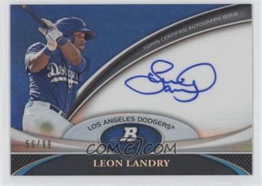 2011 Bowman Platinum Prospect Autographs Blue Refractor [Autographed] #BPA-LL - Leon Landry /99