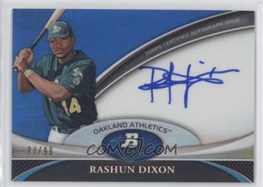 2011 Bowman Platinum Prospect Autographs Blue Refractor [Autographed] #BPA-RD - Rashun Dixon /99