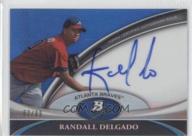 2011 Bowman Platinum Prospect Autographs Blue Refractor [Autographed] #BPA-RDE - Randall Delgado /99