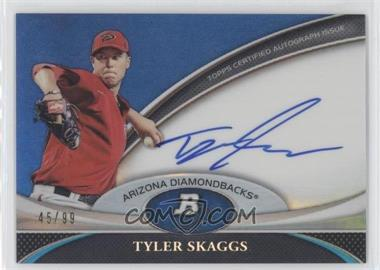 2011 Bowman Platinum Prospect Autographs Blue Refractor [Autographed] #BPA-TS - Tyler Skaggs /99