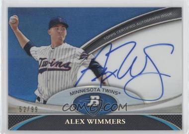 2011 Bowman Platinum Prospect Autographs Blue Refractor #BPA-AW - Alex Wimmers /99