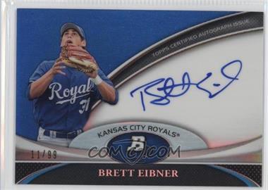 2011 Bowman Platinum Prospect Autographs Blue Refractor #BPA-BE - Brett Eibner /99